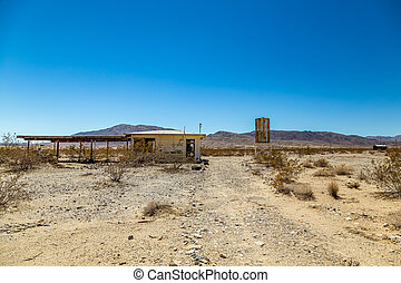 Abandoned in the Desert - A small building sits abandoned...