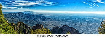 A mile above Albuquerque - A view of Albuquerque, New Mexico...