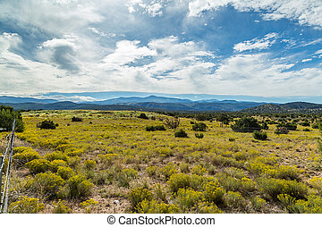 On the High Road to Taos - A View of Sierra Mosca and The...