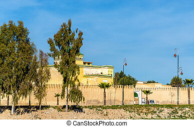 Old city walls of Fes, Morocco - The old city walls of Fes -...