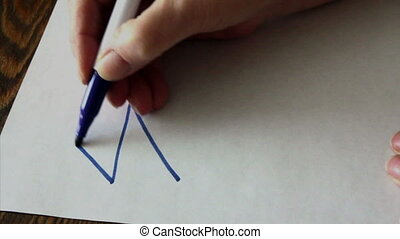 Draw the house with one continuous line4 options