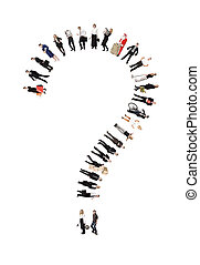 Question Mark Formed by Humans