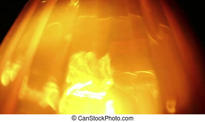Extreme close-up of soft focused flasher light