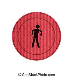 pink circular frame with training in hula hoop vector...