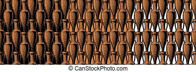 seamless pattern with amphora - vector seamless pattern with...