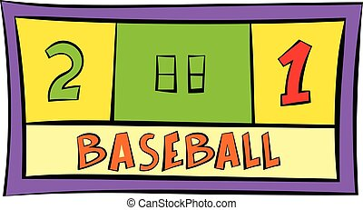 Baseball score icon, icon cartoon