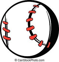 Baseball ball icon, icon cartoon
