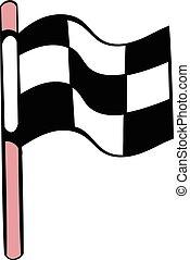 Racing checkered flag icon, icon cartoon - Racing checkered...