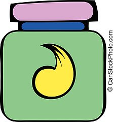 Hair gel in a plastic container icon, icon cartoon - Hair...