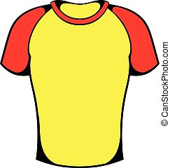 Sport shirt icon, icon cartoon - Sport shirt icon in icon in...