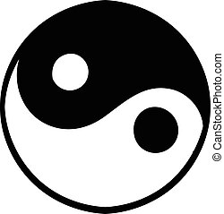 Ying yang icon, icon cartoon - Ying yang icon in icon in...