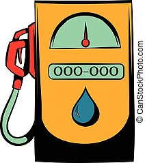 Gas station icon, icon cartoon