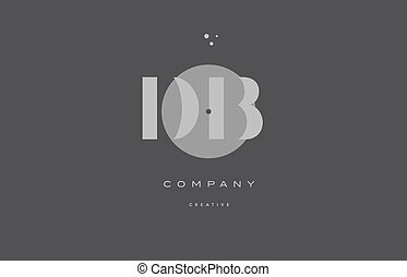 db d b grey modern alphabet company letter logo icon - db d...