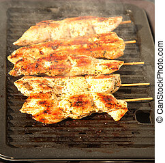 Grilling meat - Photo of preparing grilled meat