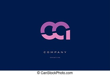 ca c a pink blue alphabet letter logo icon - ca c a pink...