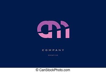 cm c m pink blue alphabet letter logo icon - cm c m pink...