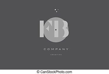 fb f b grey modern alphabet company letter logo icon - fb f...