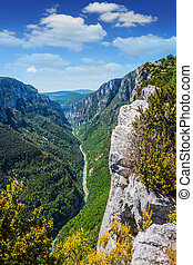 Canyon of Verdon, Provence, France. The biggest mountain...