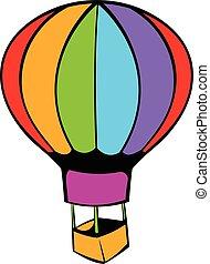 Hot air balloon icon, icon cartoon