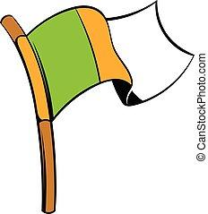 Irish flag icon, icon cartoon - Irish flag icon in icon in...