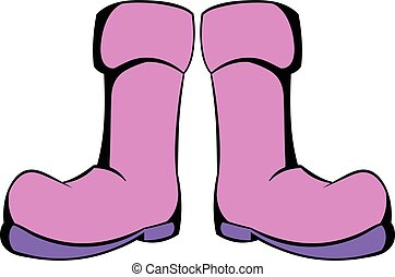 Rubber boots icon, icon cartoon - Rubber boots icon in icon...