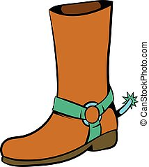 Cowboy boot icon, icon cartoon - Cowboy boot icon in icon in...