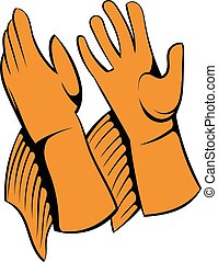 Rancher gloves icon, icon cartoon - Rancher gloves icon in...