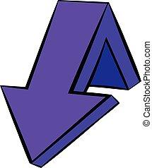 Violet down arrow icon, icon cartoon - Violet down arrow...