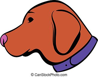 Hunting dog icon, icon cartoon - Hunting dog icon in icon in...