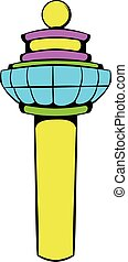 Airport control tower icon, icon cartoon