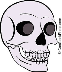 Human skull icon, icon cartoon - Human skull icon in icon in...