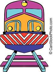 Train icon, icon cartoon - Train icon in icon in cartoon...