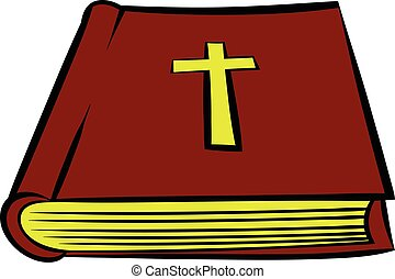 Bible book icon, icon cartoon - Bible book icon in icon in...
