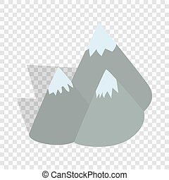 Moutains, Sweden isometric icon 3d on a transparent...