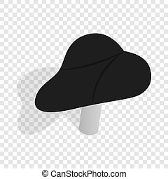 Black bicycle seat isometric icon 3d on a transparent...