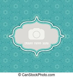 decorative background with frame for photo