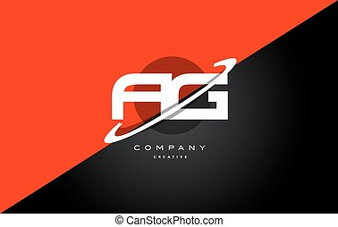 ag a g red black technology alphabet company letter logo...