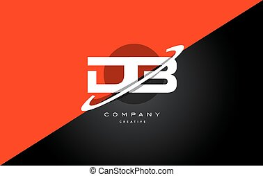 db d b red black technology alphabet company letter logo...