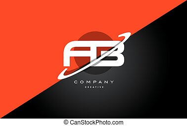 fb f b red black technology alphabet company letter logo...