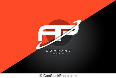 ap a p red black technology alphabet company letter logo...