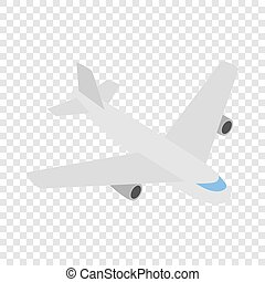 Plane isometric icon 3d on a transparent background...