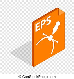 Eps file format isometric icon 3d on a transparent...