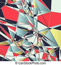 low poly background 1901 - Abstract background with a low...