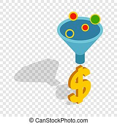 Sales funnel isometric icon