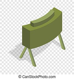 Military mine isometric icon 3d on a transparent background...