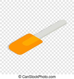 Spatula isometric icon 3d on a transparent background...