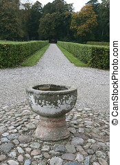 Bird Bath - Shot taken at Clausholm Castle near Randers,...