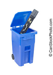 Briefcase in Recycle bin used to hold items to be reduced...