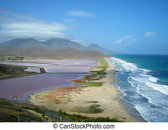 salt pans on Margarita Island - salt marsh or salt pans...