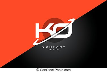 ko k o red black technology alphabet company letter logo...